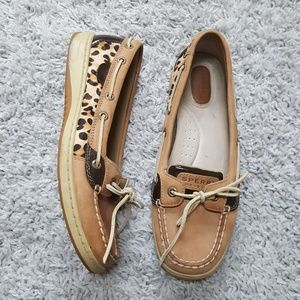 [Sperry] Leopard Print Boat Shoes